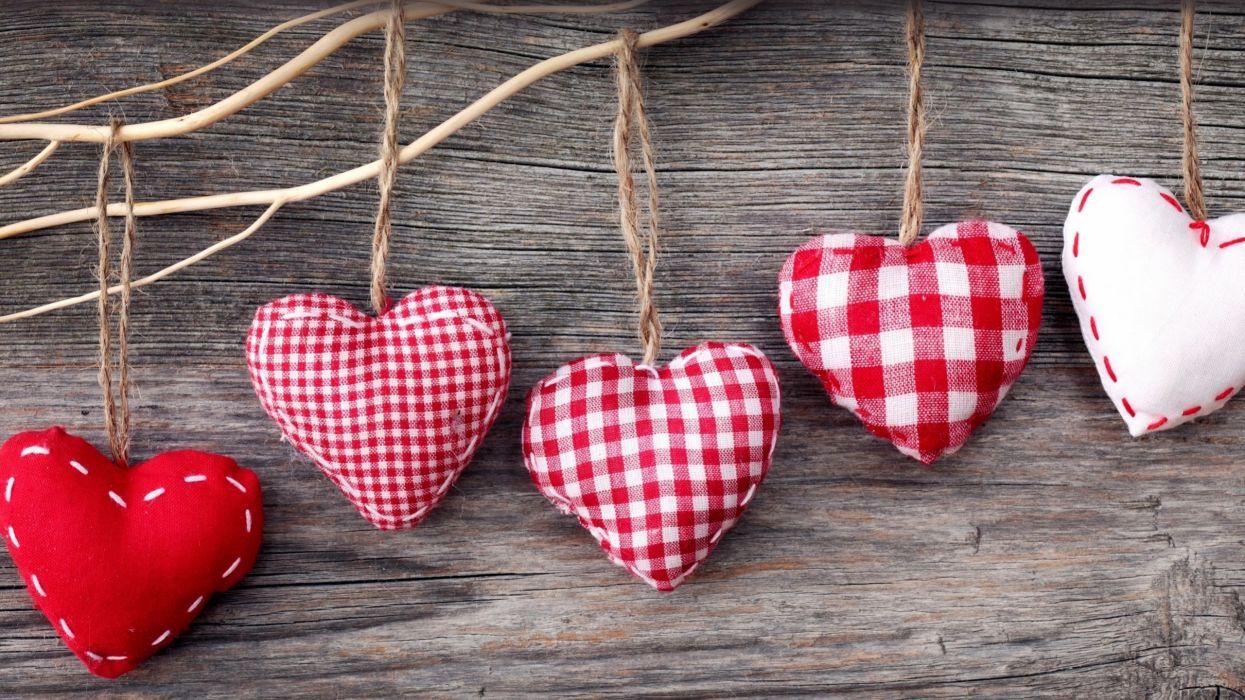 hearts fabrics wallpaper