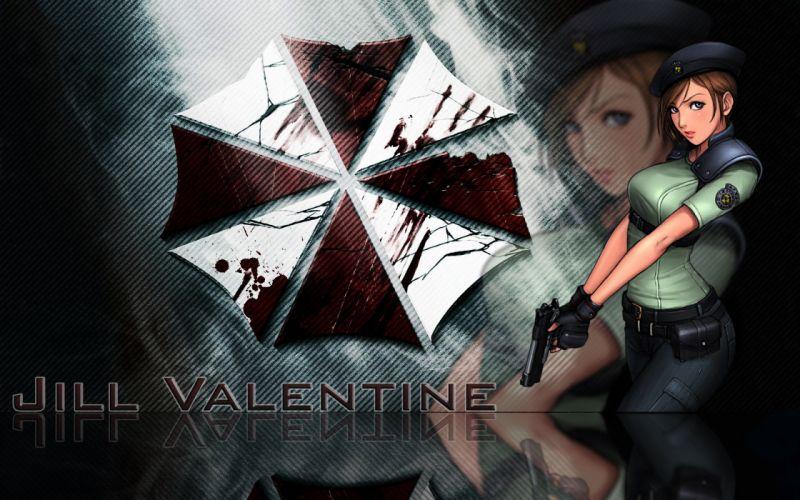 video games movies Resident Evil Jill Valentine Umbrella Corp_ logos wallpaper