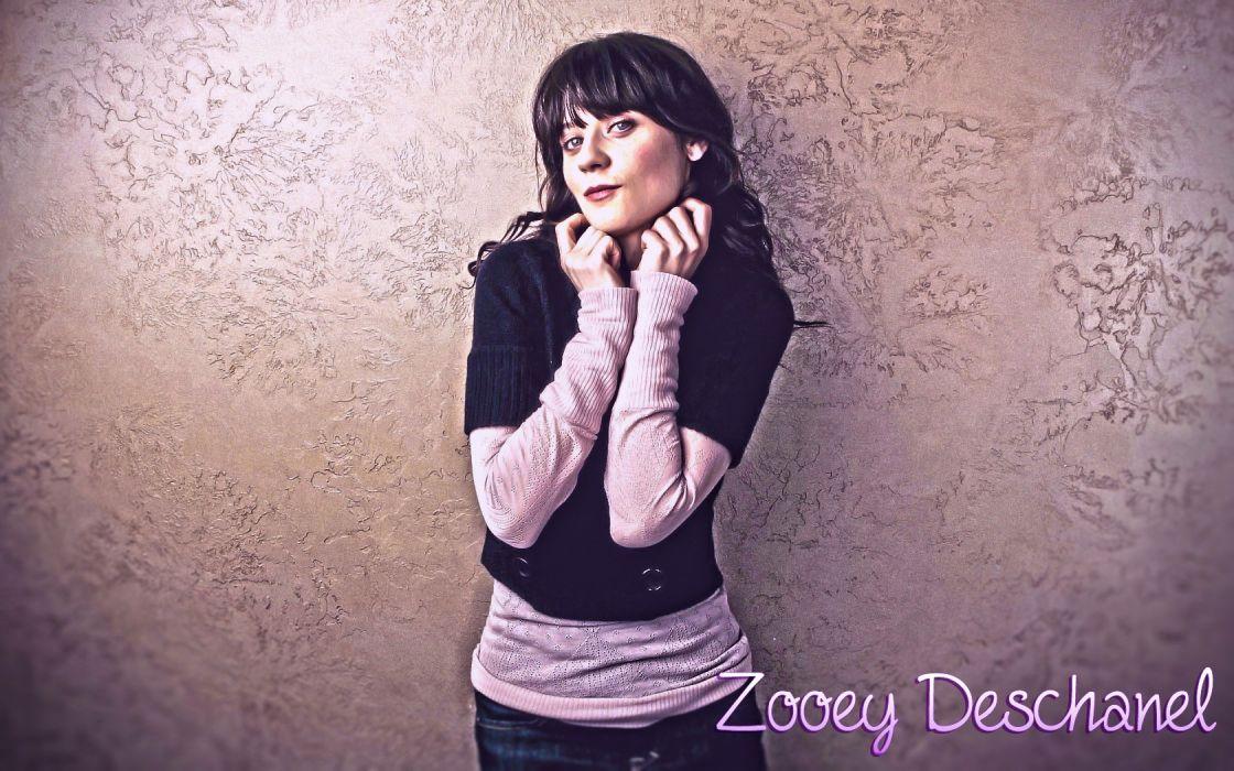 brunettes Zooey Deschanel celebrity HDR photography photo manipulation photo shoot wallpaper