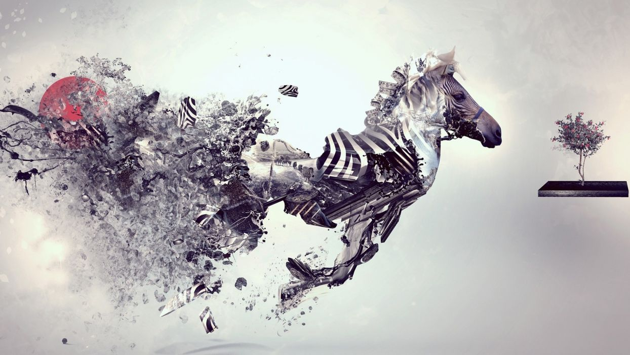 digital zebras digital art artwork zebra stripes wallpaper