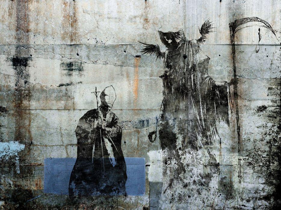 paintings death artwork Alex Cherry wallpaper