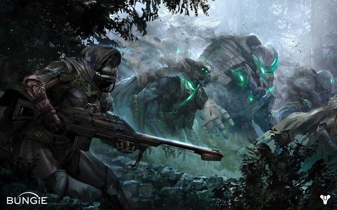 dark concept art patrol Bungie Destiny (video game) wallpaper