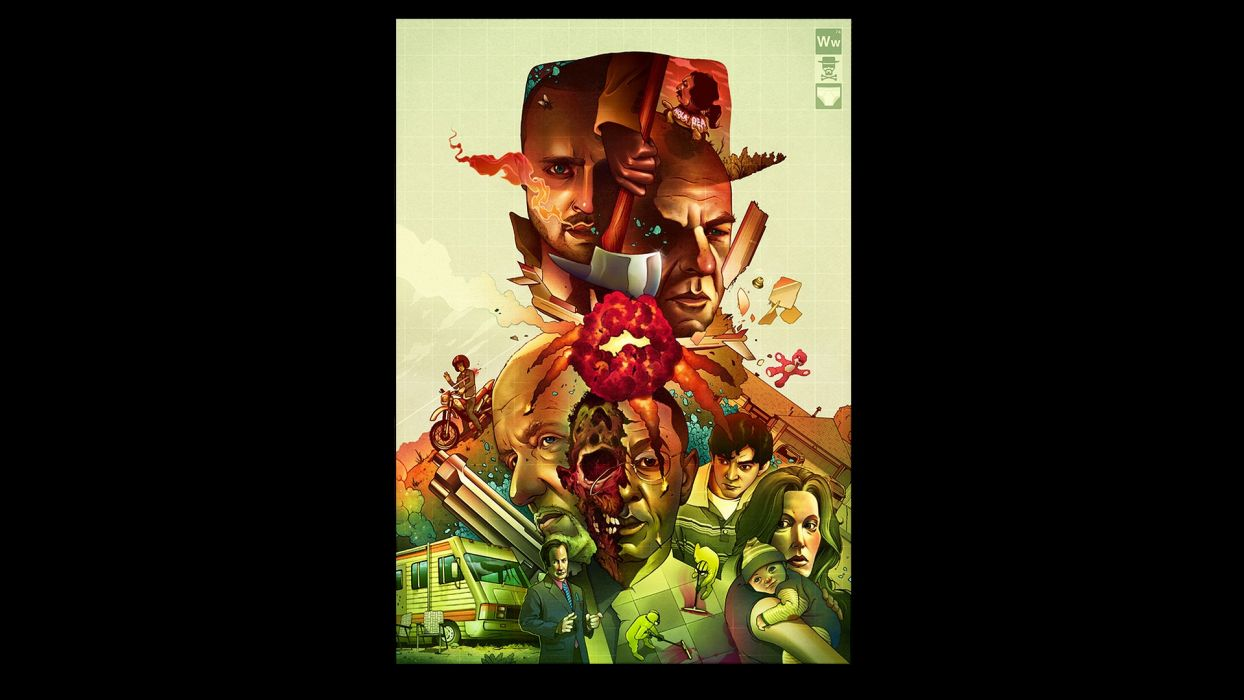 Breaking Bad TV series Walter White black background wallpaper