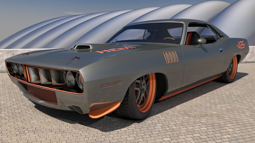 1971 Plymouth Cuda 426 Pro-Touring wallpaper