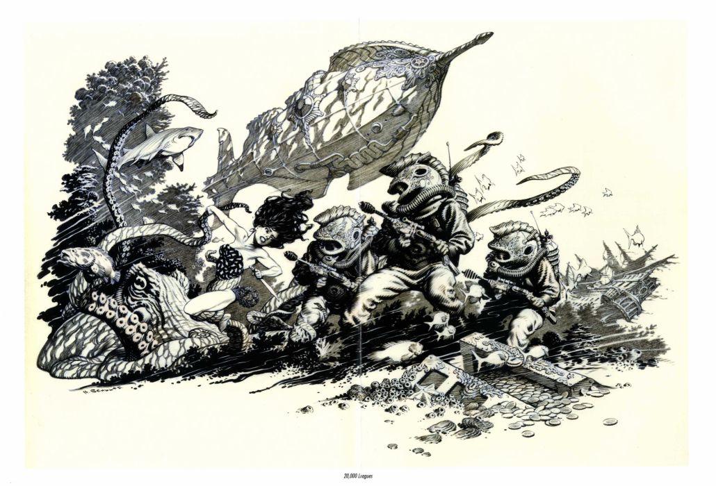 20000 LEAGUES UNDER THE SEA fantasy sci-fi adventure action classic   gs wallpaper