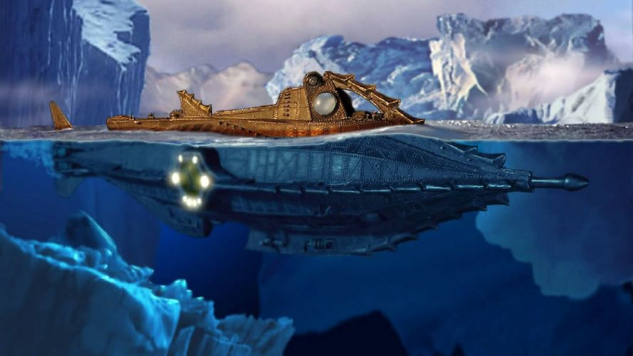 20000 LEAGUES UNDER THE SEA fantasy sci-fi adventure action classic steampunk ship boat submarine g wallpaper