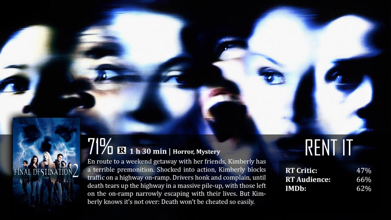 FINAL DESTINATION horror thriller dark poster    g wallpaper