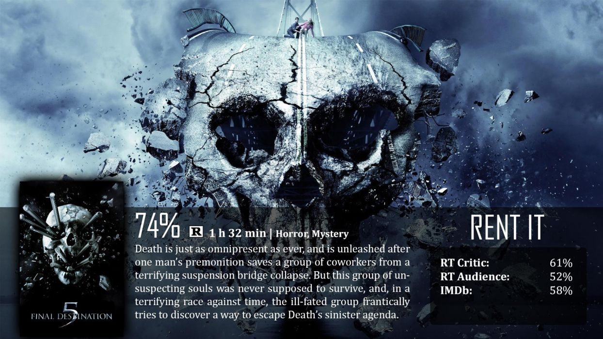 FINAL DESTINATION horror thriller dark poster   e wallpaper