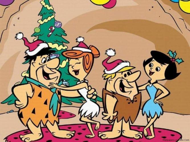 FLINTSTONES cartoon christmas g wallpaper