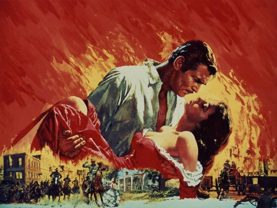 GONE WITH THE WIND Drama Romance War poster     g wallpaper