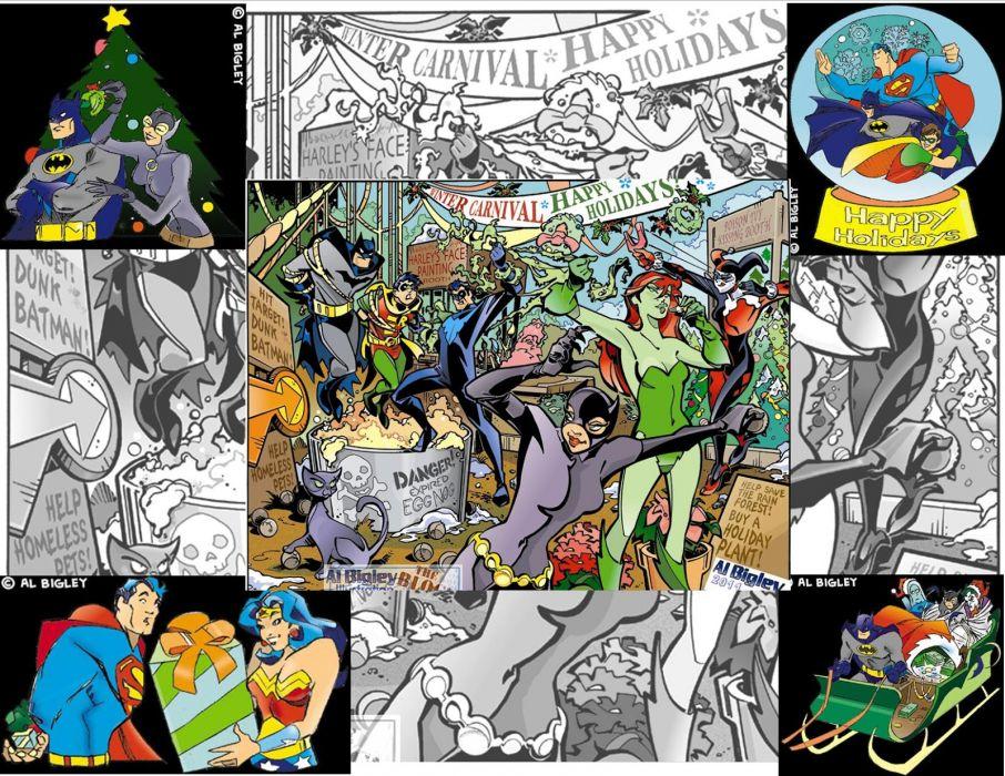 holiday christmas comics superhero      f wallpaper