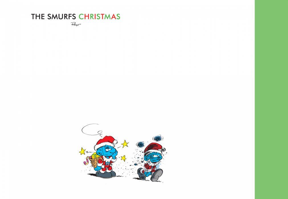 holiday christmas smurfs      g wallpaper