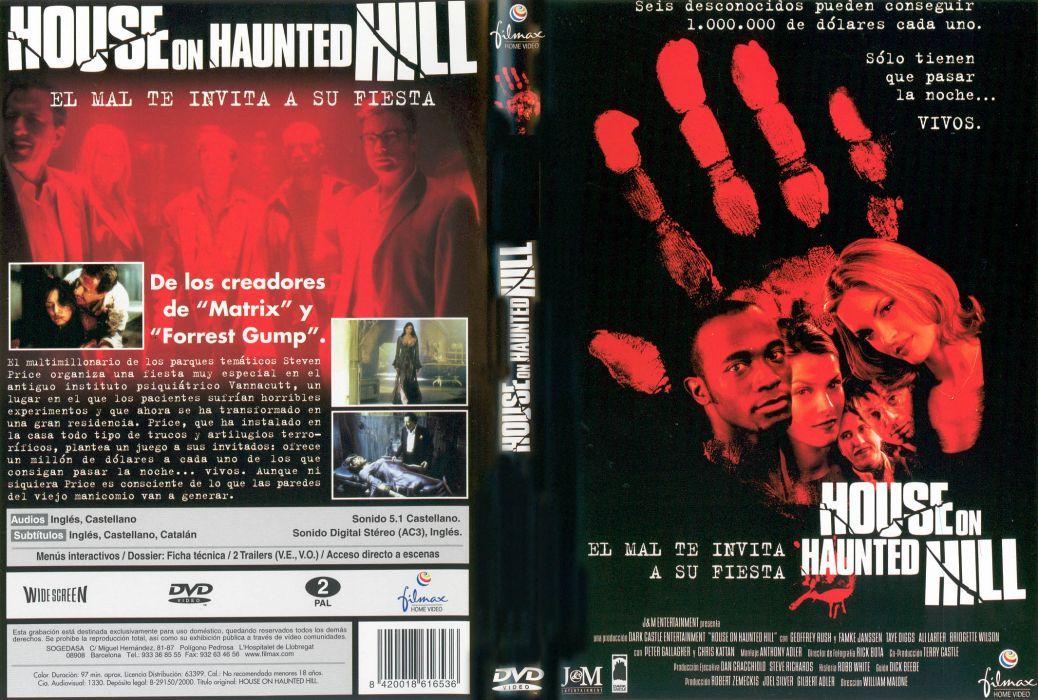 HOUSE ON HAUNTED HILL dark horror poster    f wallpaper