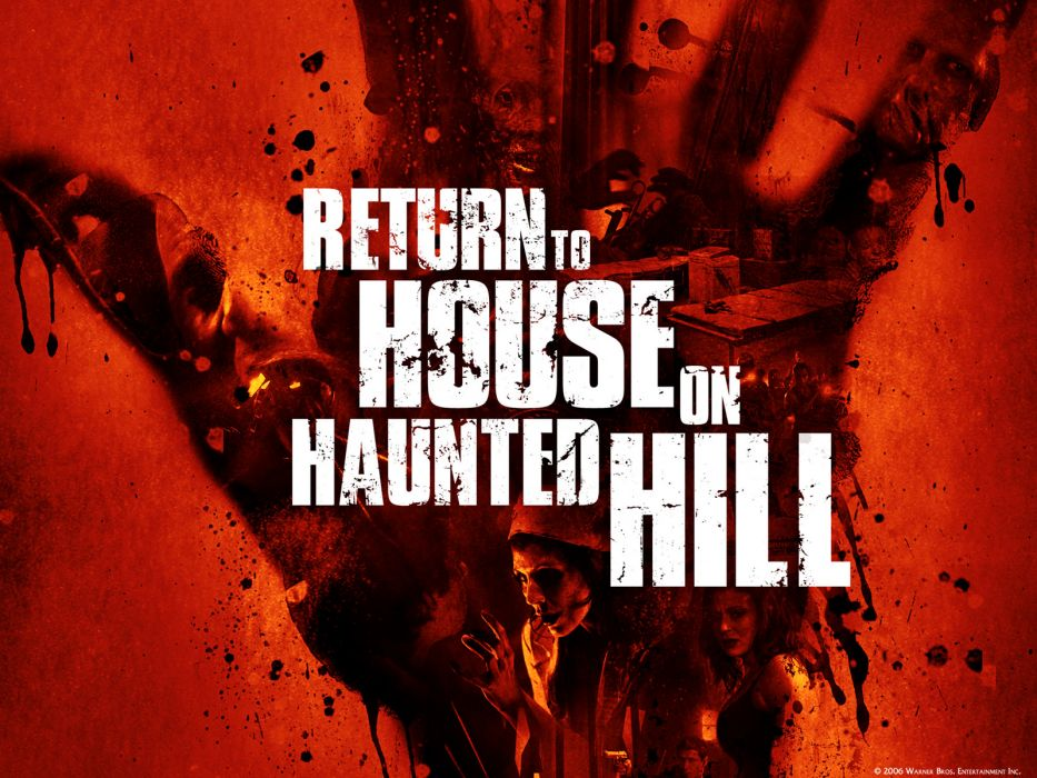 HOUSE ON HAUNTED HILL dark horror poster blood      f wallpaper