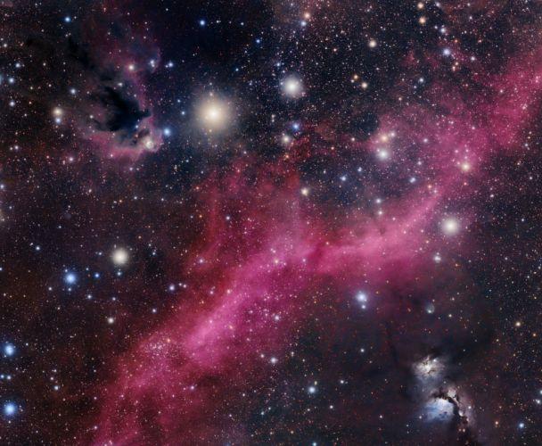 nebula stars bokeh h wallpaper