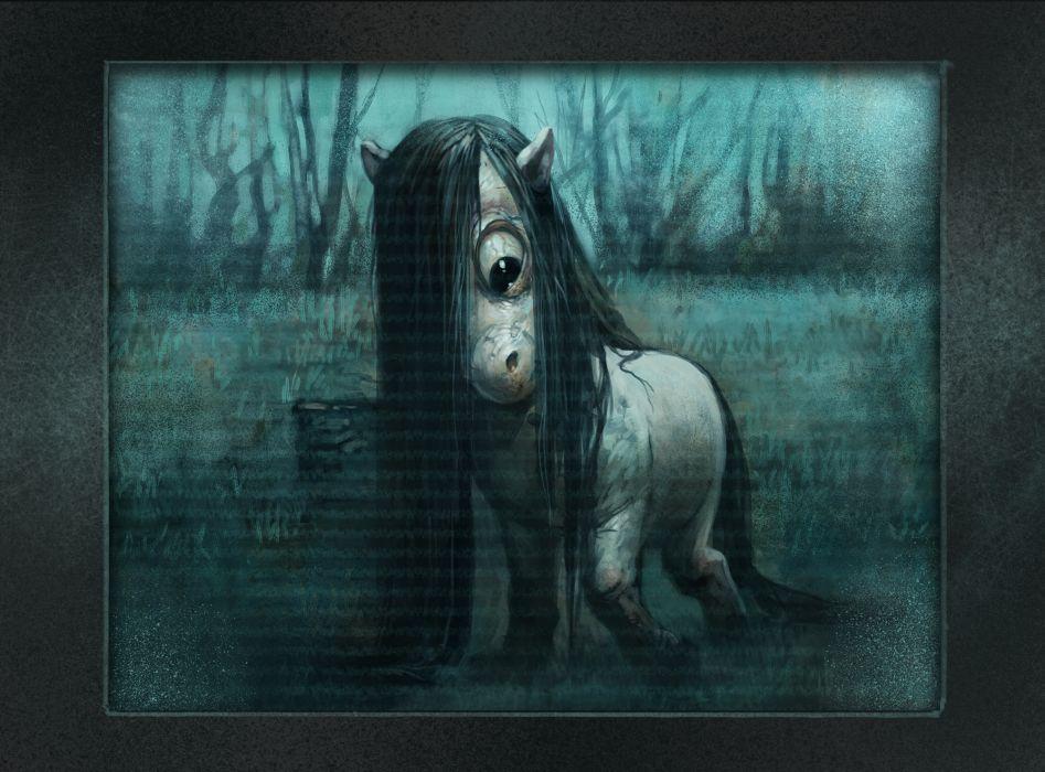 RINGU Horror Mystery dark little pony       g wallpaper