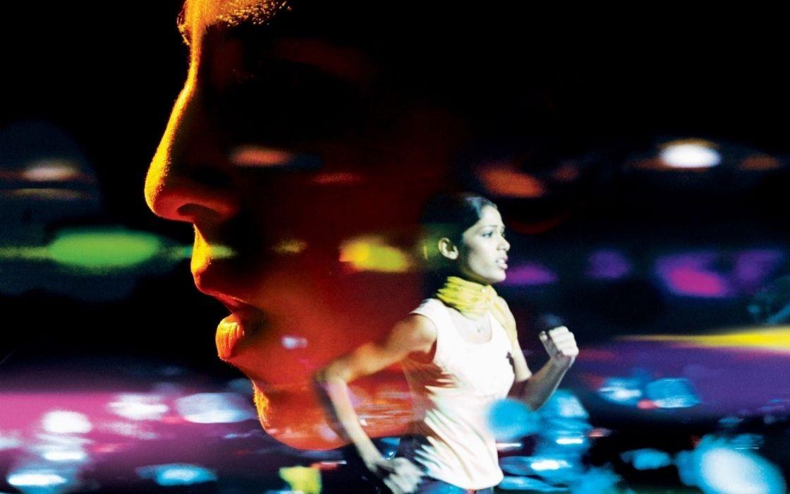 SLUMDOG MILLIONAIRE Crime Drama Romance Thriller   fs wallpaper