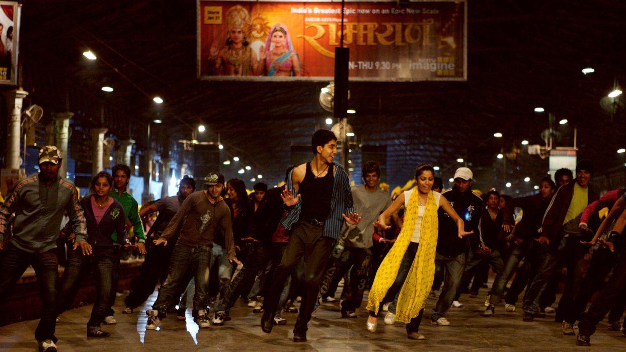 SLUMDOG MILLIONAIRE Crime Drama Romance Thriller dance   n wallpaper
