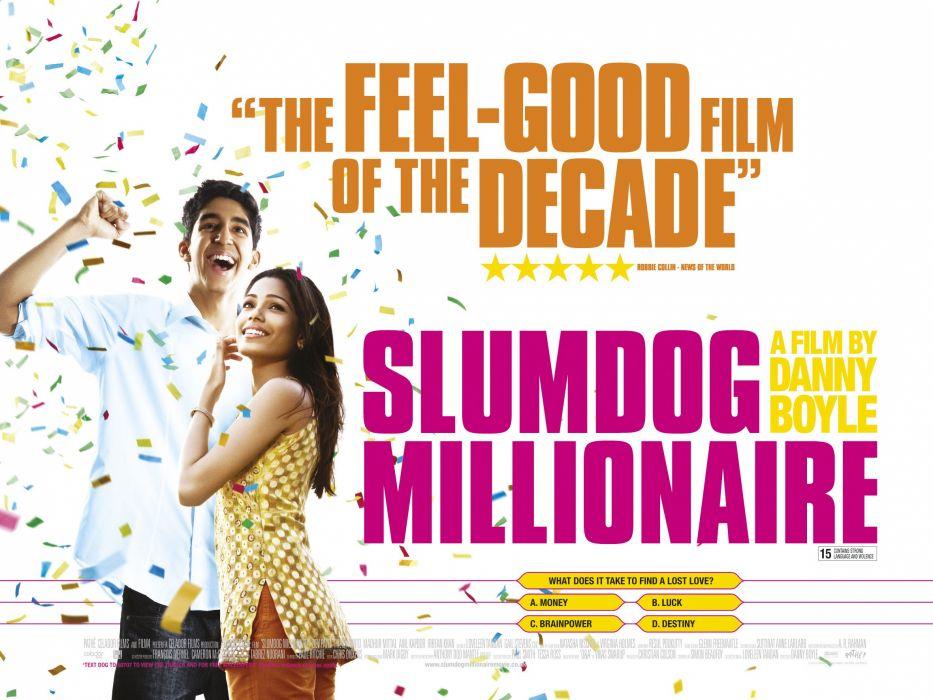 SLUMDOG MILLIONAIRE Crime Drama Romance Thriller poster        g wallpaper