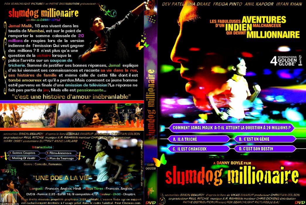SLUMDOG MILLIONAIRE Crime Drama Romance Thriller poster d wallpaper
