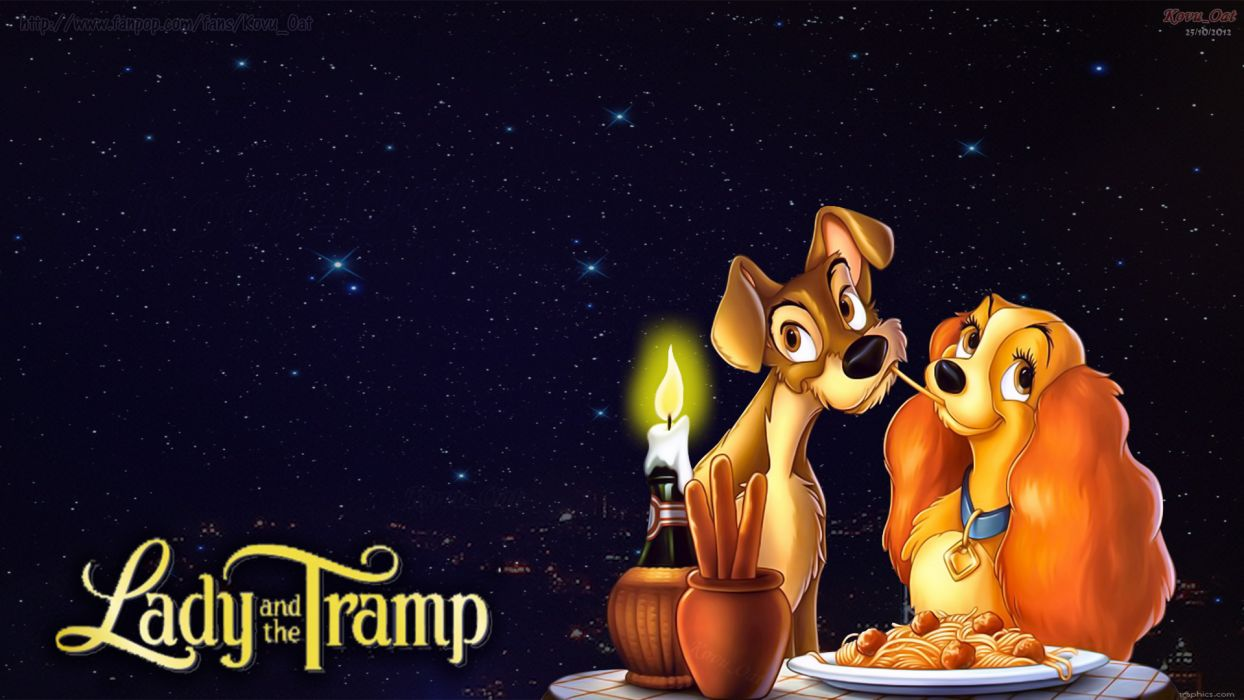 LADY AND THE TRAMP disney      f wallpaper