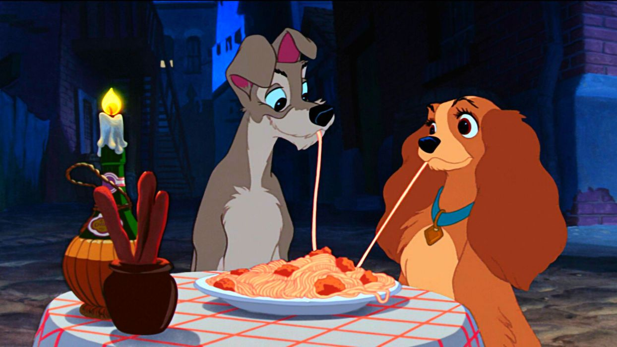 LADY AND THE TRAMP disney   fe wallpaper