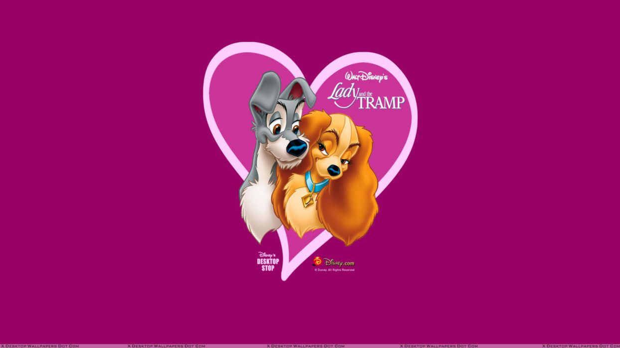 LADY AND THE TRAMP disney poster      jl wallpaper