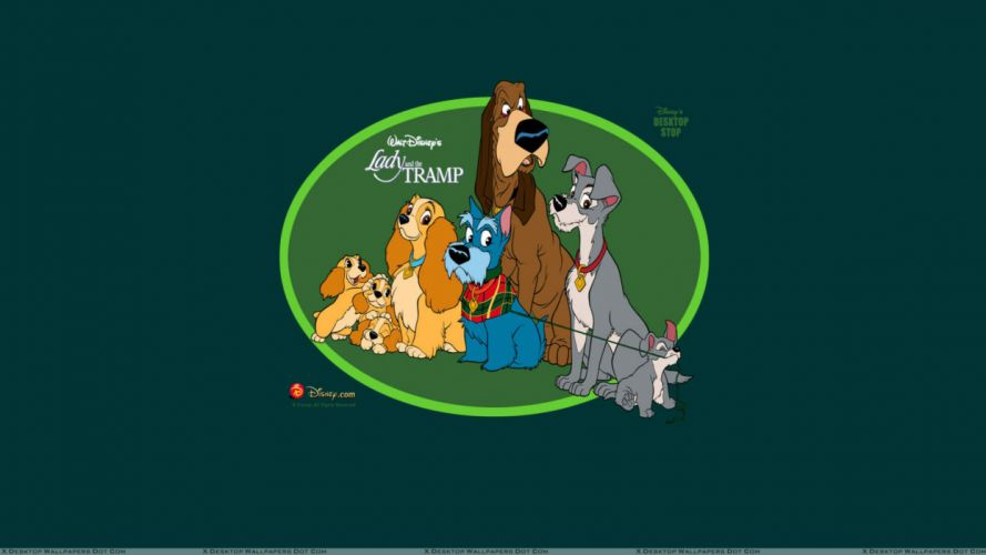 LADY AND THE TRAMP disney poster mv wallpaper