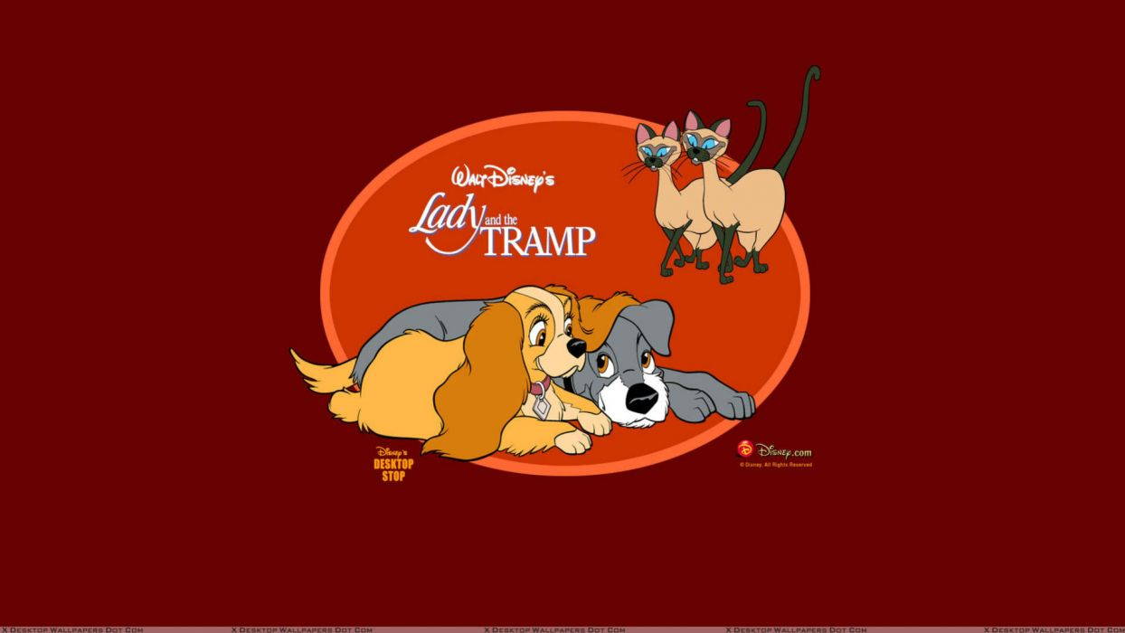 LADY AND THE TRAMP disney poster  jf wallpaper
