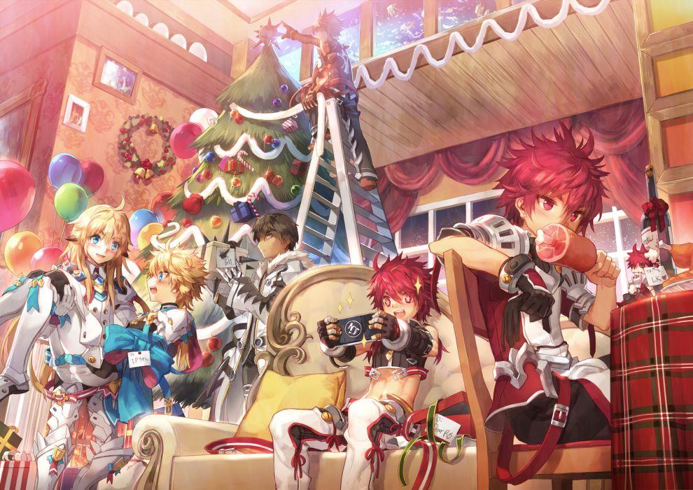 elsword christmas     g wallpaper