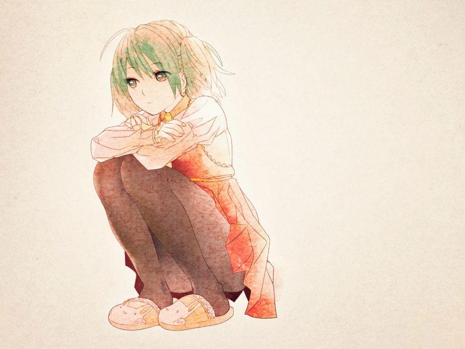 vocaloid dress green eyes green hair hatsune miku keishi pantyhose twintails vocaloid wallpaper