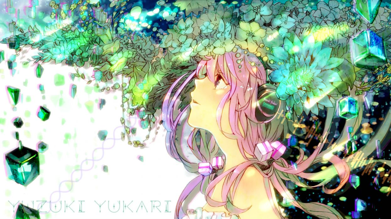vocaloid gon (gororingo) headphones vocaloid yuzuki yukari wallpaper