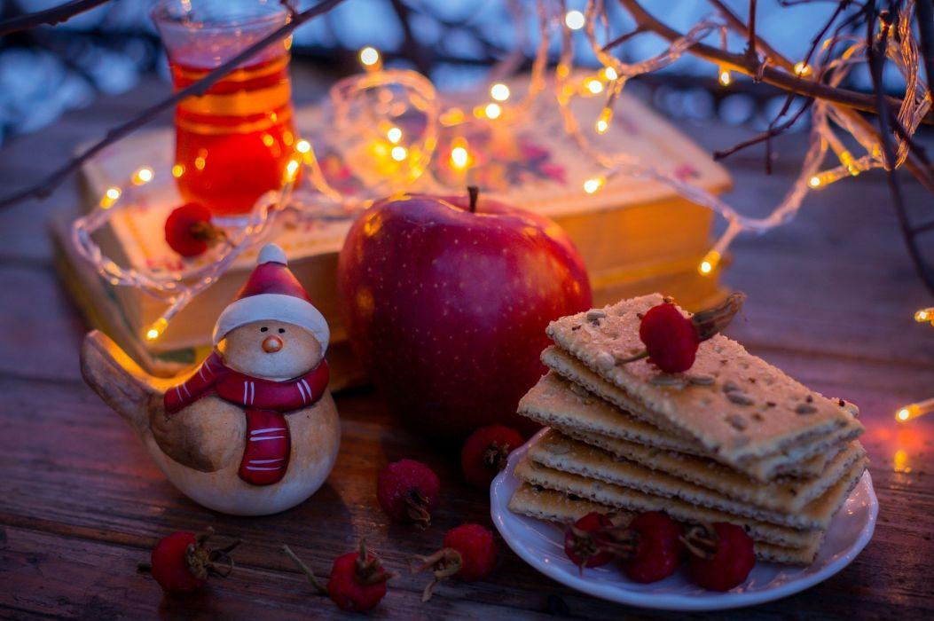 apple red cookies fruit tea   f wallpaper