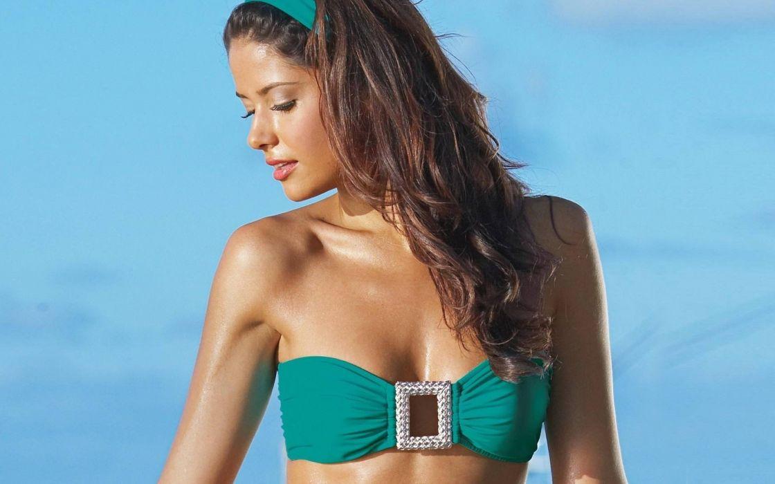 Carla Ossa model girl tan summer person profile swimsuit wallpaper
