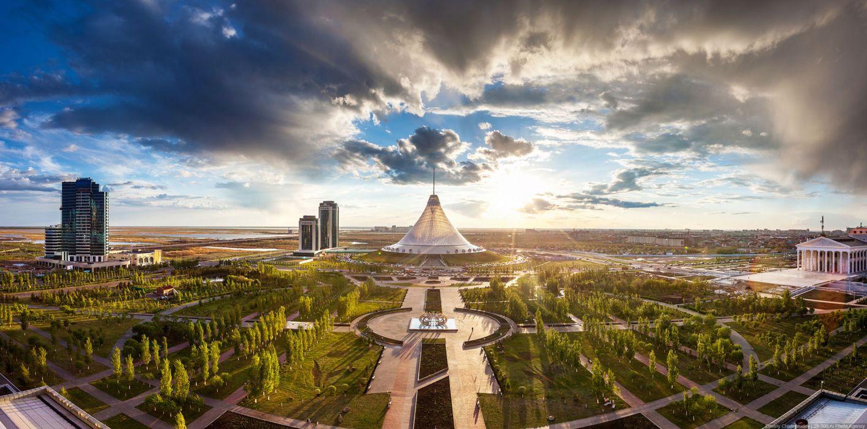 Khan Shatyr Astana park Kazakhstan wallpaper