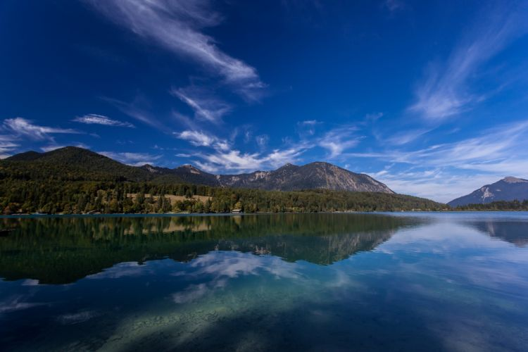 Lake Walchen Bavaria Germany Alps Lake Walchensee Bavaria Germany Alps mountains reflection wallpaper
