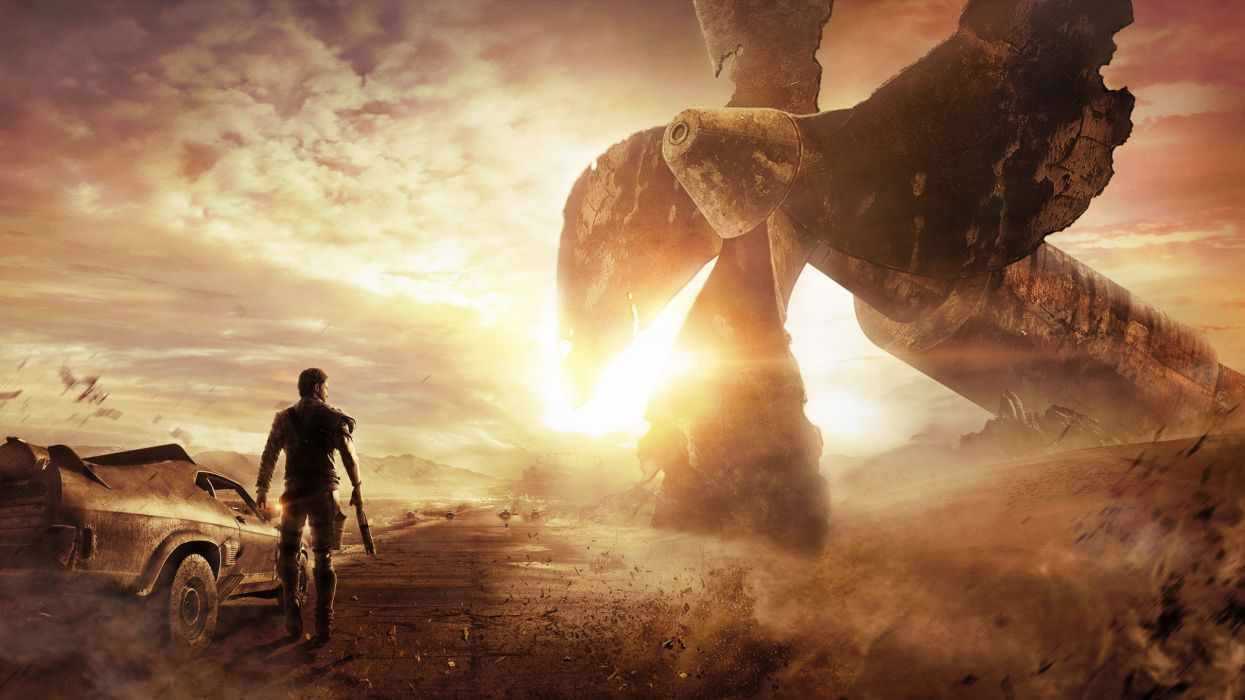 Mad Max Road Propeller Sunlight sci-fi fantasy apocalyptic wallpaper