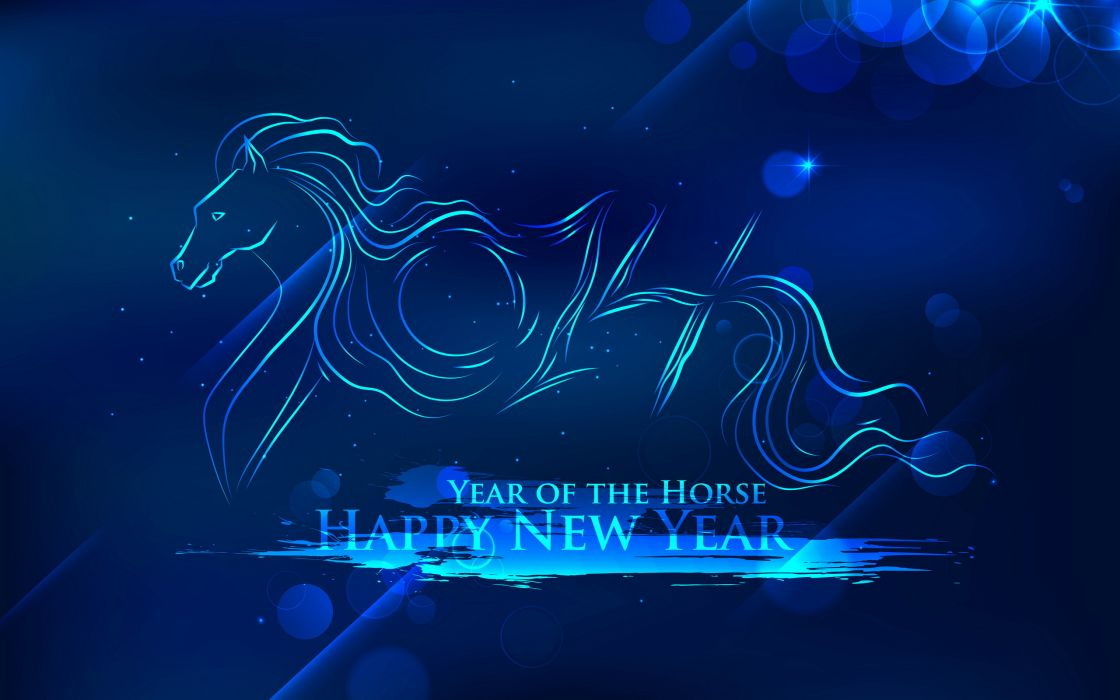new year year of the horse 2014 wallpaper