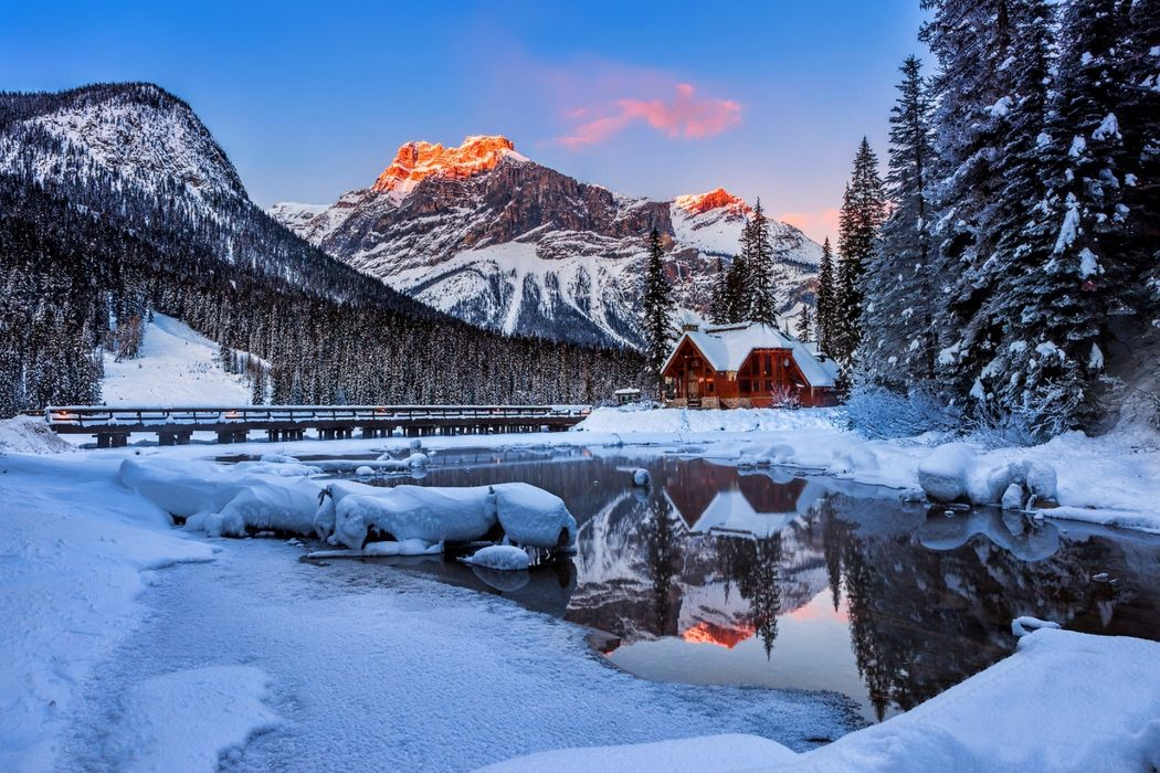 reflection house nature snow winter   f wallpaper