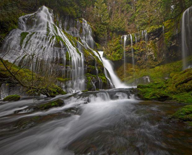 waterfall river rocks nature g wallpaper