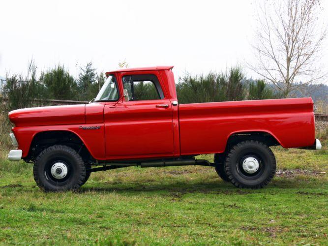1960 Chevrolet Apache 10 Fleetside Pickup Truck (K14) 4x4 classic f wallpaper
