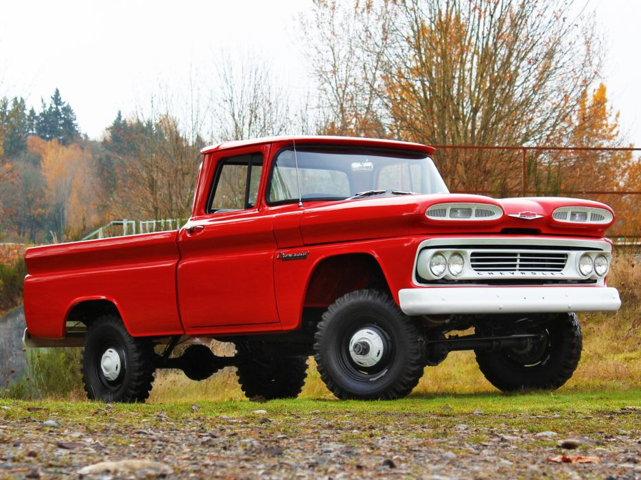 1960 Chevrolet Apache 10 Fleetside Pickup Truck (K14) 4x4 ...
