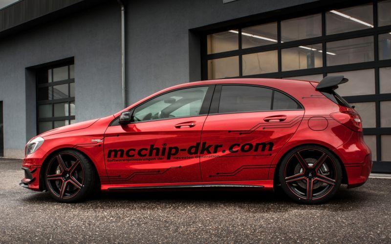 2014 mcchip-dkr Mercedes Benz A45 AMG tuning h wallpaper