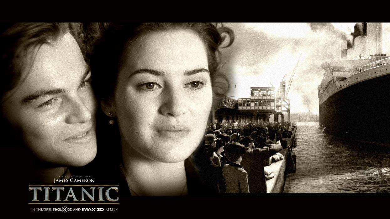 TITANIC disaster drama romance ship boat poster    ge wallpaper