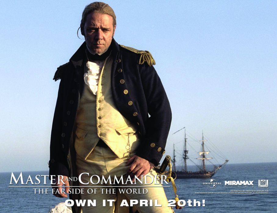 MASTER AND COMMANDER Action Adventure Drama War ship boat poster   g wallpaper
