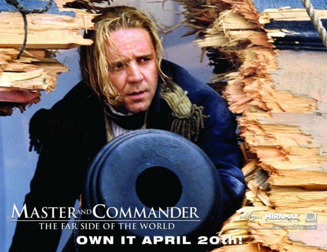 MASTER AND COMMANDER Action Adventure Drama War ship boat poster gr wallpaper