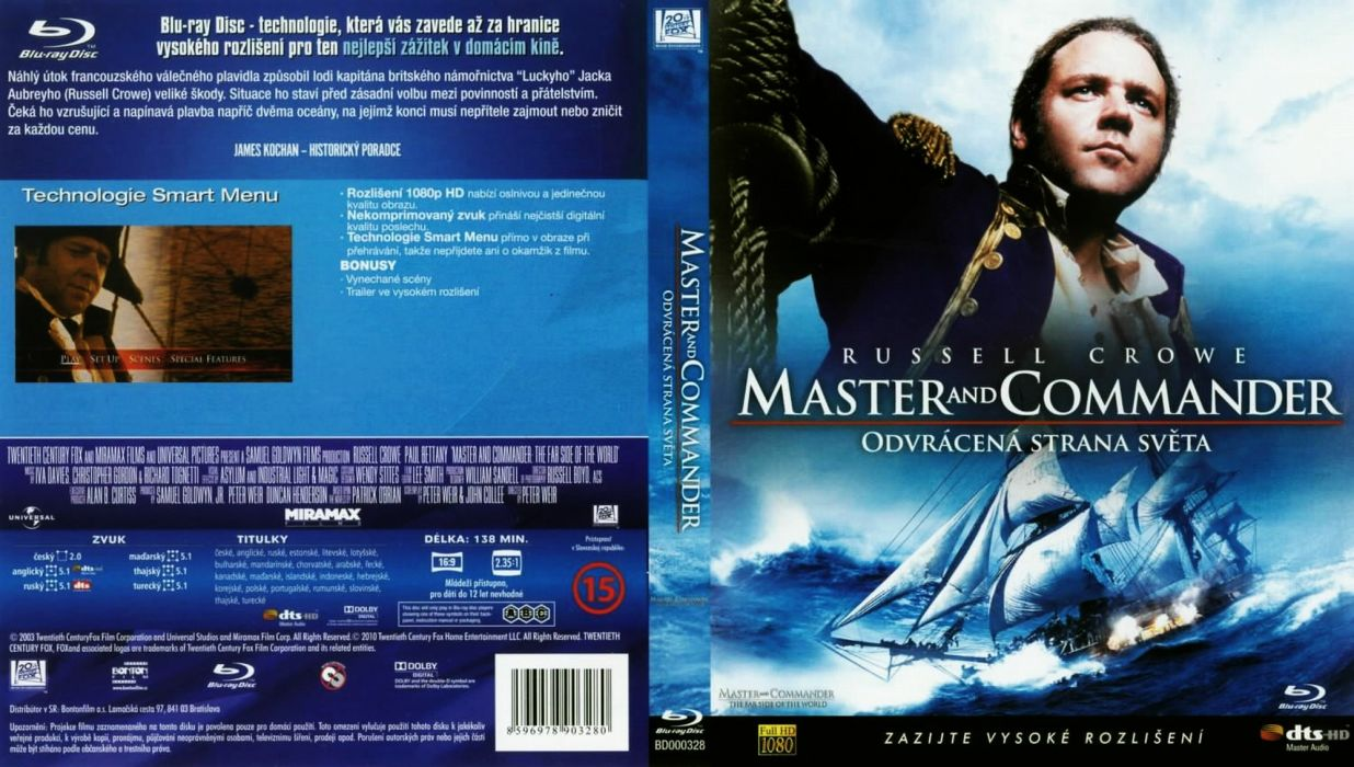 MASTER AND COMMANDER Action Adventure Drama War ship boat poster  h wallpaper