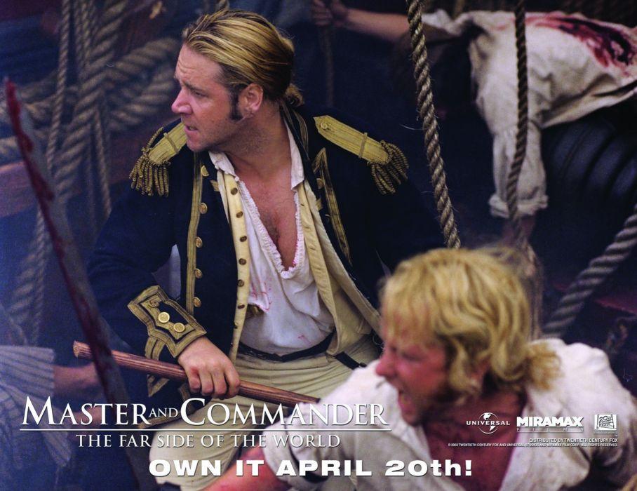 MASTER AND COMMANDER Action Adventure Drama War ship boat poster  f wallpaper