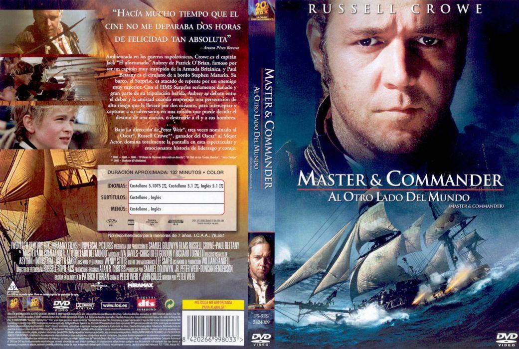 MASTER AND COMMANDER Action Adventure Drama War ship boat poster  n wallpaper