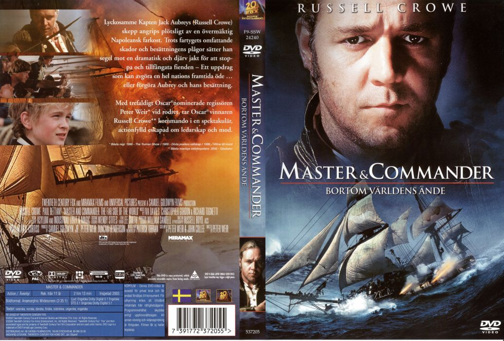 MASTER AND COMMANDER Action Adventure Drama War ship boat poster  g wallpaper